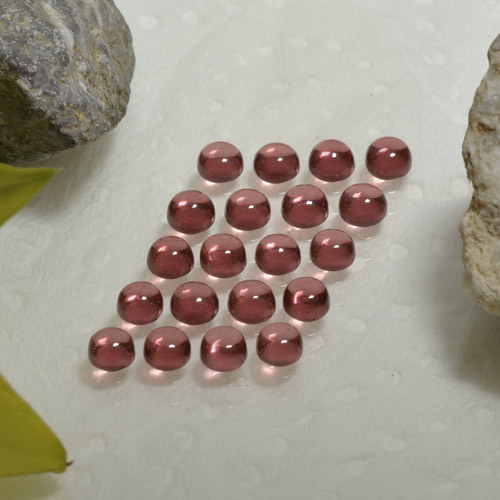 0.2ct Rund Cabochon Medium Red Almandin-Granat Edelstein (ID: 467867)