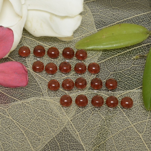 0.2ct Rund Cabochon Medium Red Almandin-Granat Edelstein (ID: 467902)