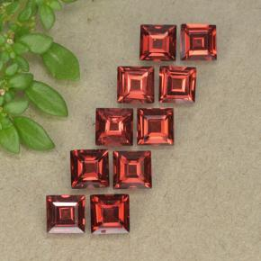 Scarlet Red Almandine Garnet Gem - 0.5ct Square Step-Cut (ID: 494307)