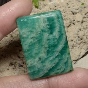 Medium Green Amazonite Gem - 47.7ct Baguette Cabochon (ID: 484659)