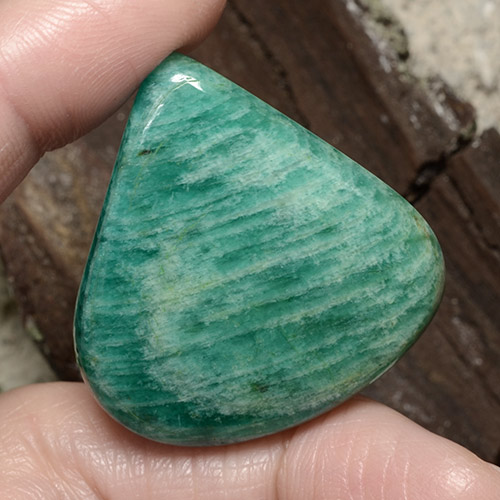 Blue-Green Amazonite Gem - 54.1ct Pear Cabochon (ID: 484665)