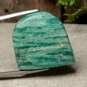 Blue-Green Amazonite Gem - 26.4ct Fancy Cabochon (ID: 487762)