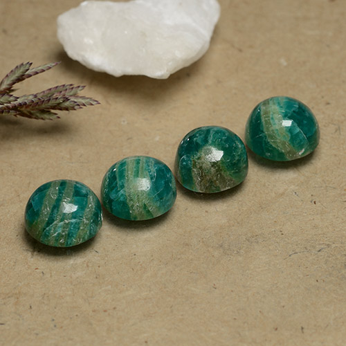 Blue-Green Amazonite Gem - 2.2ct Round Cabochon (ID: 490979)