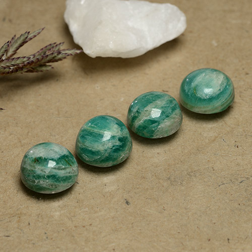 Blue-Green Amazonite Gem - 2.3ct Round Cabochon (ID: 490981)