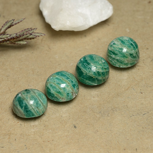 Blue-Green Amazonite Gem - 2.5ct Round Cabochon (ID: 490982)