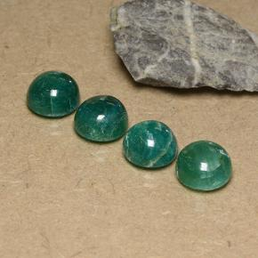 Blue-Green Amazonite Gem - 3.1ct Round Cabochon (ID: 490994)