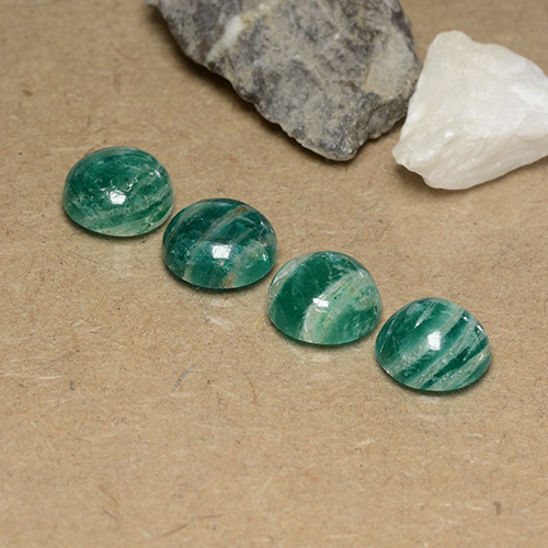 Blue-Green Amazonite Gem - 2.4ct Round Cabochon (ID: 490996)