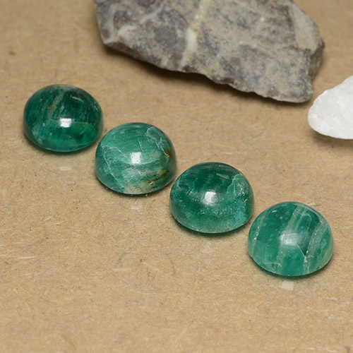 Cool Green Amazonite Gem - 3ct Round Cabochon (ID: 490997)