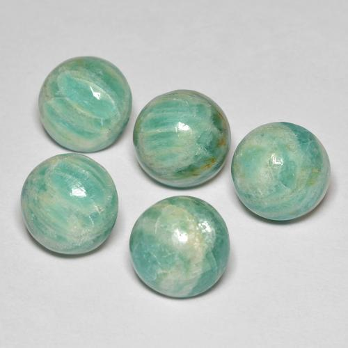 Blue-Green Amazonite Gem - 2.9ct Round Cabochon (ID: 491002)