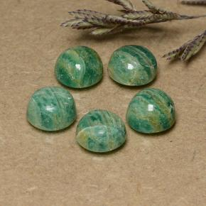 Cool Green Amazonite Gem - 1.5ct Round Cabochon (ID: 491009)