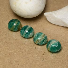 Blue-Green Amazonite Gem - 1.4ct Round Cabochon (ID: 491057)