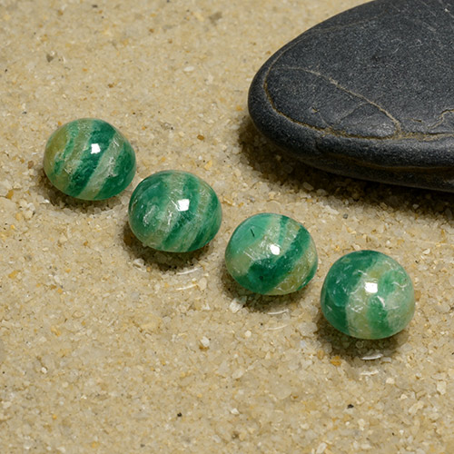 Blue-Green Amazonite Gem - 1.4ct Round Cabochon (ID: 491082)