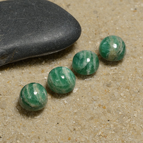 Blue-Green Amazonite Gem - 1.7ct Round Cabochon (ID: 491085)