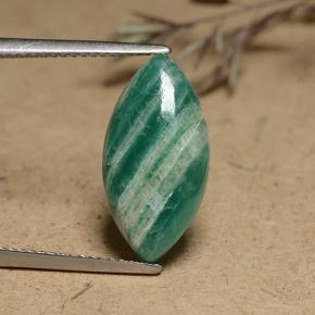 4.8ct Marquise Cabochon Blue-Green Amazonite Gem (ID: 491251)