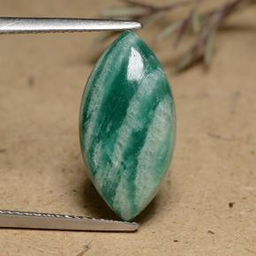 5.3ct Marquise Cabochon Blue-Green Amazonite Gem (ID: 491256)