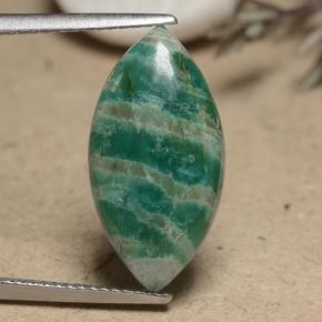Blue-Green Amazonite Gem - 5.7ct Marquise Cabochon (ID: 491268)