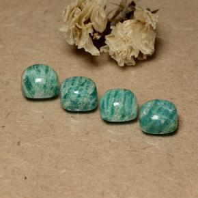 Blue-Green Amazonite Gem - 2.1ct Cushion Cabochon (ID: 491666)