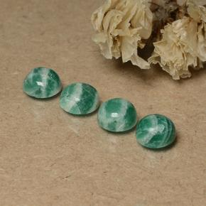 Blue-Green Amazonite Gem - 0.8ct Round Cabochon (ID: 491719)