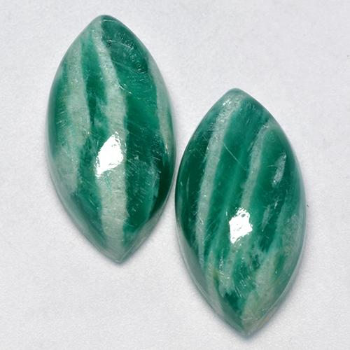 Blue-Green Amazonite Gem - 7.4ct Marquise Cabochon (ID: 491729)