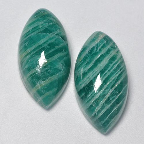 Medium Green Amazonite Gem - 7.8ct Marquise Cabochon (ID: 491730)