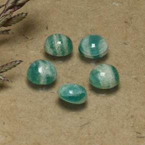 0.5ct Round Cabochon Blue-Green Amazonite Gem (ID: 491812)