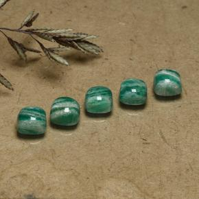 Blue-Green Amazonite Gem - 0.8ct Cushion Cabochon (ID: 491820)