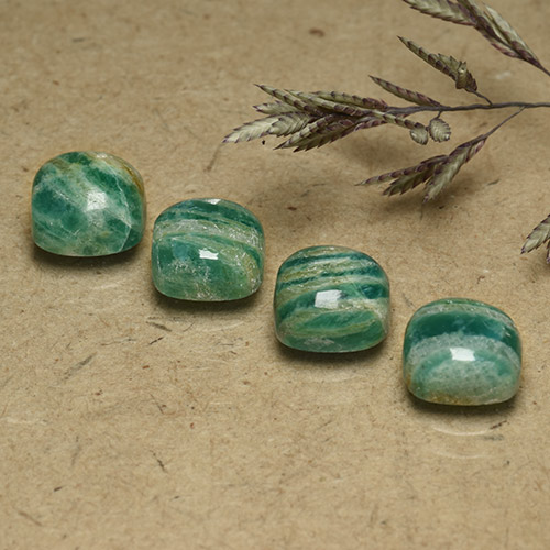 Blue-Green Amazonite Gem - 1.9ct Cushion Cabochon (ID: 491841)