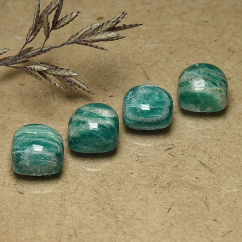 Blue-Green Amazonite Gem - 2.2ct Cushion Cabochon (ID: 491845)