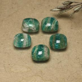 Blue-Green Amazonite Gem - 1.6ct Cushion Cabochon (ID: 491847)