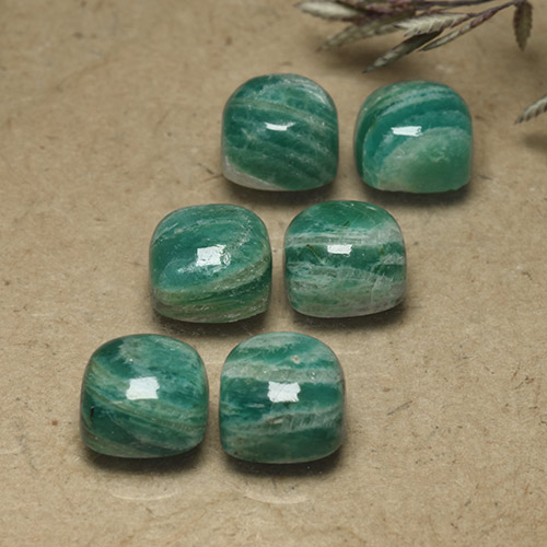 Blue-Green Amazonite Gem - 2.3ct Cushion Cabochon (ID: 491856)
