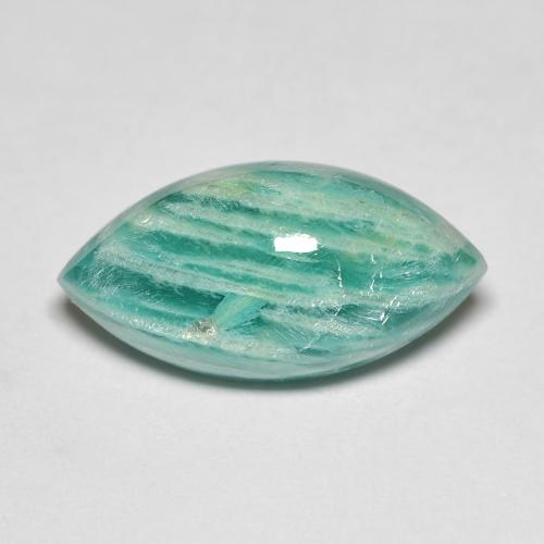 Blue-Green Amazonite Gem - 7.7ct Marquise Cabochon (ID: 492118)