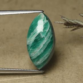 Cool Green Amazonite Gem - 6.2ct Marquise Cabochon (ID: 492122)