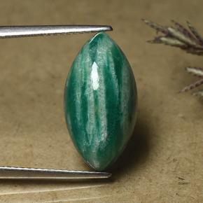 Blue-Green Amazonite Gem - 7.2ct Marquise Cabochon (ID: 492128)