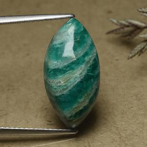 8.2ct Marquise Cabochon Blue-Green Amazonite Gem (ID: 492172)