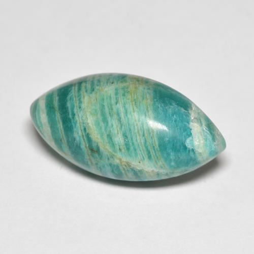 Blue-Green Amazonite Gem - 9.1ct Marquise Cabochon (ID: 492277)