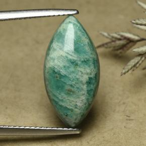 Cool Green Amazonite Gem - 6ct Marquise Cabochon (ID: 492281)
