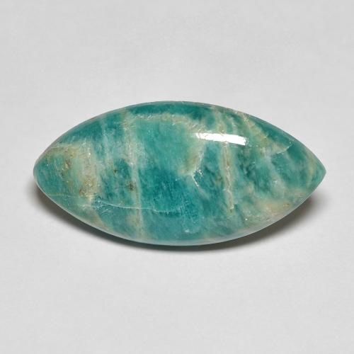 Cool Green Amazonite Gem - 5.6ct Marquise Cabochon (ID: 492351)