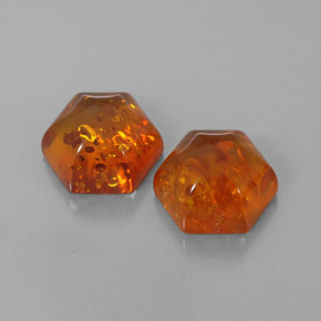 2.1 carat Fancy 9.1x8mm Natural and Untreated Amber Gemstones