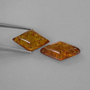 Buy 4.63 ct Yellow Orange Amber 19.54 mm x 10.7 mm from GemSelect (Product ID: 282422)
