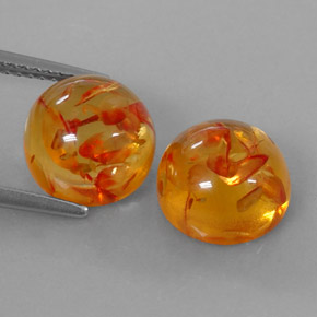 Buy 3.65 ct Yellow Orange Amber 9.50 mm  from GemSelect (Product ID: 321882)