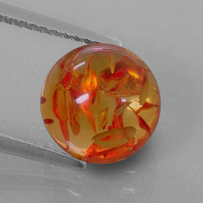 Buy 1.72ct Yellow Orange Amber 9.47mm  from GemSelect (Product ID: 323639)