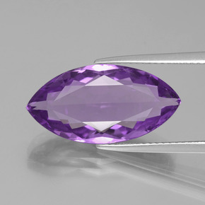 8.5ct Marquise Facet Intense Violet Amethyst Gem (ID: 352669)