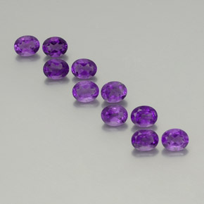 Violet Amethyst Gem - 0.4ct Oval Facet (ID: 355847)