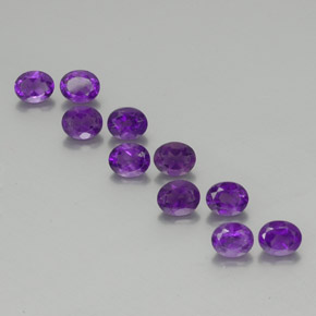 Violet Amethyst Gem - 0.4ct Oval Facet (ID: 355851)