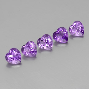 Violet Amethyst Gem - 0.7ct Heart Facet (ID: 356276)