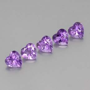Violet Amethyst Gem - 0.7ct Heart Facet (ID: 356812)