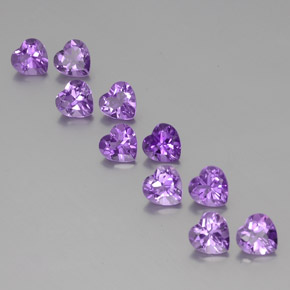 Violet Amethyst Gem - 0.7ct Heart Facet (ID: 356956)