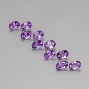 Violet Amethyst Gem - 0.4ct Oval Facet (ID: 356966)