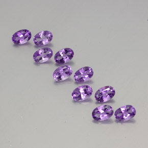 Violet Amethyst Gem - 0.4ct Oval Facet (ID: 356968)