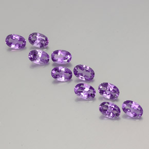 Violet Amethyst Gem - 0.4ct Oval Facet (ID: 356972)